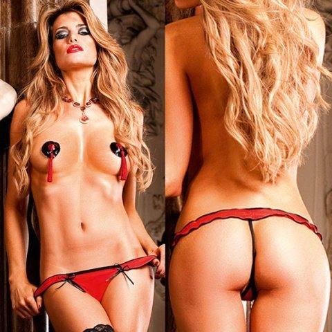 Devi Трусики женские , красный/черный, фото 4