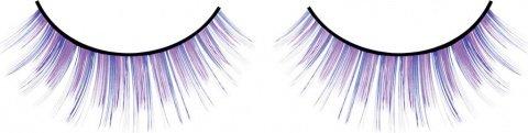 Ресницы сине-фиолетовые длинные, фото 2