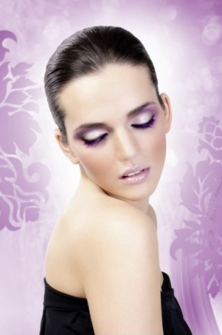 Ресницы фиолетовые Deluxe