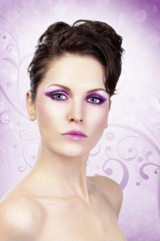 Ресницы фиолетовые накладные Deluxe, фото 5