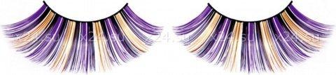 Ресницы фиолетово-черно-желтые, фото 4