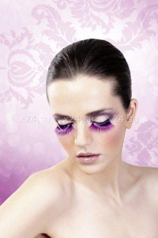 Ресницы фиолетовые длинные, фото 3