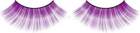 Ресницы фиолетовые длинные, фото 4