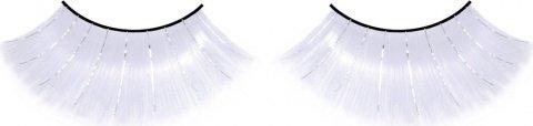 Ресницы длинные белые с серебряными блестками, фото 6