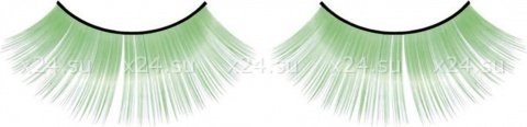 Ресницы зеленые длинные, фото 2