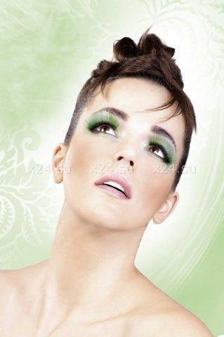 Ресницы зеленые длинные, фото 3