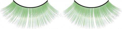 Ресницы зеленые длинные, фото 4