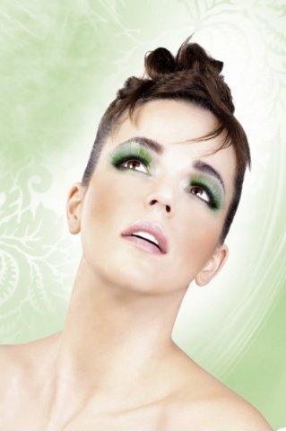 Ресницы зеленые длинные, фото 5