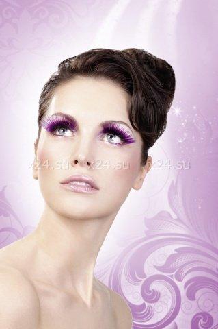 Ресницы фиолетовые длинные Deluxe, фото 3