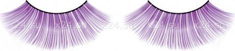 Ресницы фиолетовые длинные Deluxe, фото 4