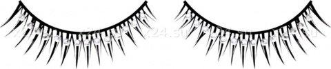 Ресницы черные с серебрянными стразами, фото 4