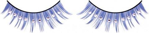 Ресницы синие с серебряными стразами, фото 6