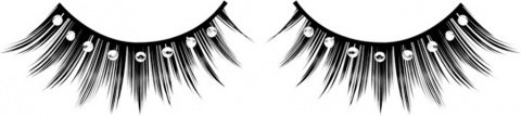 Ресницы чрные с серебрянными стразами, фото 2