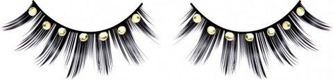 Ресницы черные с серебрянными стразами, фото 6