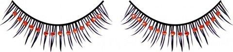 Ресницы черные с красными стразами, фото 7