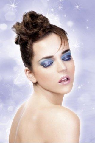 Ресницы чрно-синие со стразами (большое фото) > Интернет секс шоп Мир Оргазма