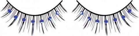 Ресницы чрно-синие со стразами, фото 2