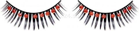 Ресницы черные с красными стразами, фото 2