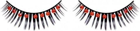 Ресницы черные с красными стразами, фото 6