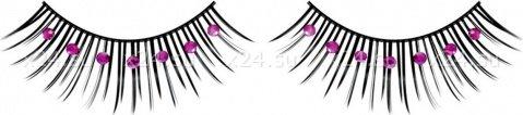 Ресницы черные с фиолетовыми стразами, фото 4