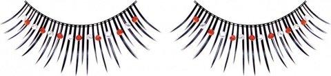 Ресницы черные с красными и серебряными стразами, фото 6