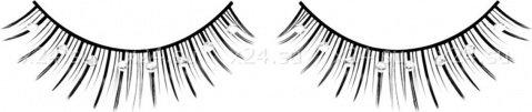 Ресницы черные с серебряными стразами, фото 2