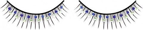 Ресницы чрные с сине-зелными стразами, фото 2