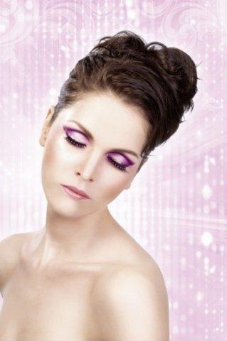 Ресницы чрно-фиолетовые со стразами (большое фото) > Секс шоп Мир Оргазма