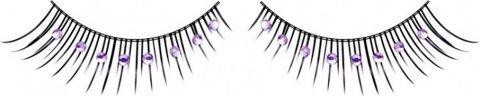 Ресницы чрно-фиолетовые со стразами, фото 2