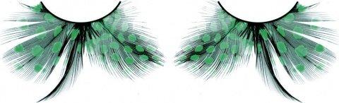 Ресницы бирюзовые перья, фото 2