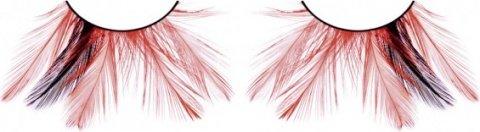 Ресницы чрные-красные перья (большое фото 2) > Секс шоп Мир Оргазма
