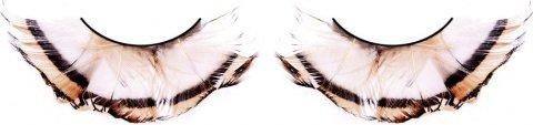 Ресницы бежево-коричневые перья, фото 2