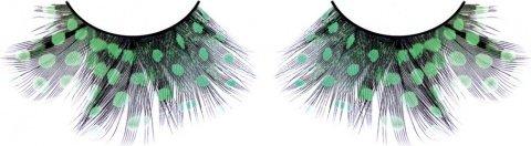 Ресницы тмно-зеленые перья (большое фото 2) > Секс шоп Мир Оргазма