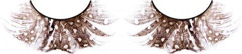 Ресницы коричневые перья, фото 2
