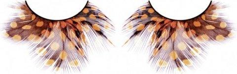 Ресницы жлто-коричневые перья, фото 2