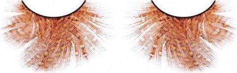 Ресницы оранжево-красные перья, фото 2