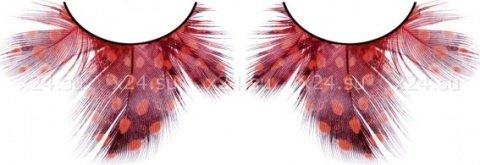 Ресницы черно-красные перья, фото 4