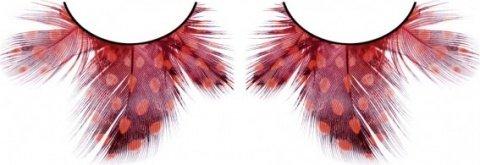 Ресницы черно-красные перья, фото 6