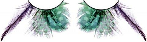 Ресницы зелные перья, фото 2