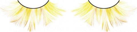 Ресницы жлтые перья, фото 2