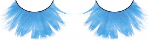 Ресницы светло-голубые перья, фото 2