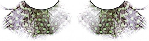 Ресницы коричнево-зелно-фиолетовые перья, фото 2