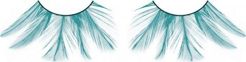 Ресницы голубые перья, фото 2