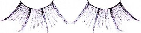 Ресницы чрные-фиолетовые перья, фото 2
