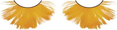 Ресницы оранжевые перья, фото 2