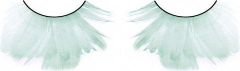 Ресницы бирюзовые перья (большое фото 2) > Секс шоп Мир Оргазма
