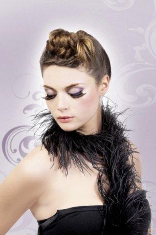 Ресницы чрные перья