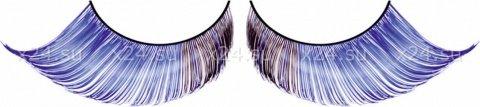 Ресницы светло-синие перья, фото 2