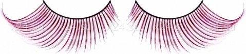 Ресницы черно-розовые перья