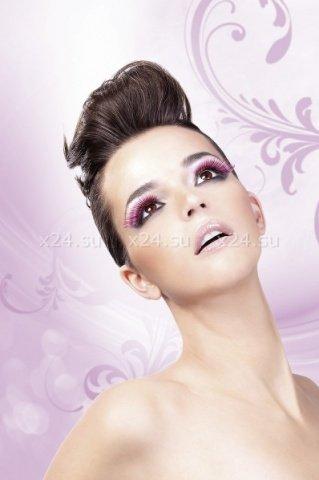 Ресницы черно-розовые перья, фото 3